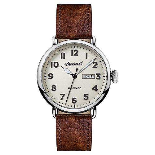 Ingersoll Herren Analog Automatik Uhr mit Leder Armband I03402