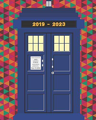 2019-2023 Five Year Planner Tardis Notebook: Monthly Calendar Journal