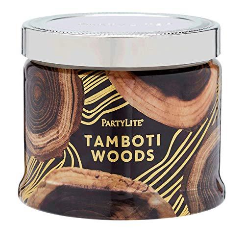 PartyLite 3 Wick Candle Jar, Safari Wood