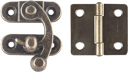 Vintage Vorh/ängeschloss Haspel H/örner Bronze Eisen Sch/äkelschloss f/ür Schmuckschatulle Packung von 8 st/ück