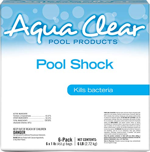 Aqua Clear 50006ACL Products Pool Shock, (6 1-lb Bags)