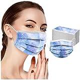 Sopzxclim Desechable Mascarrese Tie-Dye Imprime Suave Transpirable de 3 Capas Bufanda para Unisexo Adultos