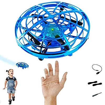 Hand Controlled Drones for Kids | Mini Drone | UFO Interactive Aircraft | Flying Ball | Alien Hovercraft | Indoor Pocket Hover Toy | Teens Adults Boys Girls Stem Toys | Hands Free Gadgets | Quadcopter by Liberty Shack