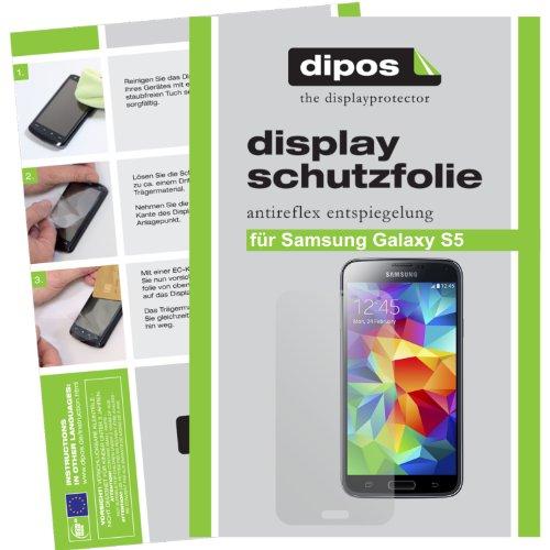 dipos I 6X Schutzfolie matt kompatibel mit Samsung Galaxy S5 / S5 Neo Folie Bildschirmschutzfolie