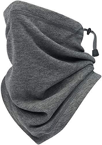 STSKing Multifunktionstuch Schlauchschal Fleece Halswärmer Winter Bandana Einstellbar Atmungsaktiv Schal Gesichtsschutz und Mund Nasenschutz (Grau)