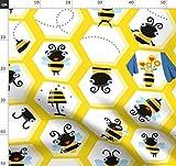Bienen, Wabe, Gelb, Biene Stoffe - Individuell Bedruckt von