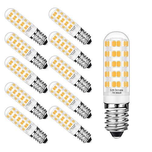 Eofiti Ampoules E14 LED Dimmable, Ampoule Maïs E14 Dimmables 7W Blanc Chaud Équivalent à 50W Halogène LED E14 2700K Lampe E14 AC 230V Lumineux 560LM avec 360° Large Angle de Faisceau Lot de 10