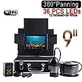 """WG Wireless WiFi Fish Finder 9""""LCD-Monitor Videokamera 1000TVL Unterwasser-Eisfischen Finder 36 LEDs 360 Grad drehen,100M -"""