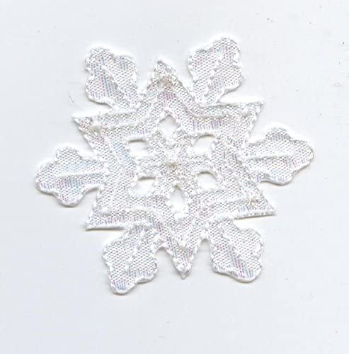 White Holiday Snowflake Attention brand Free Shipping New Embroidered Iron Patch on