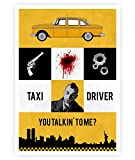 LAB NO 4 You Talkin to Me Taxi Driver Movie Poster in A4