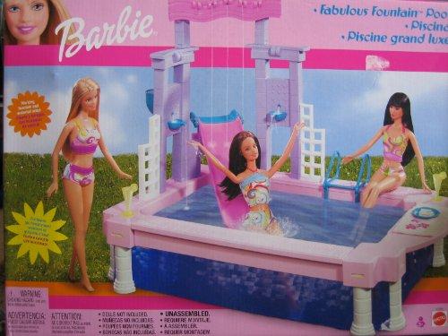 Barbie Fabulous Fountain Pool Playset (2002)