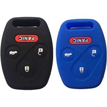 A Pair Black Silicone Rubber Keyless Entry Remote Key Fob Case Skin Cover Protector fit for 2006 2007 MITSUBISHI Raider