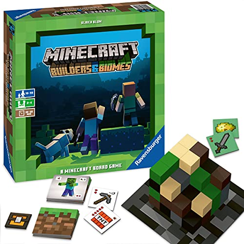 Ravensburger Minecraft: Builders & Biomes Strategy Board Game (Amazon Exclusive)