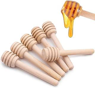 HansGo Honeycomb Stick, 36PCS 3 Inch Mini Wood Honey Dipper Sticks Honey Stirrer Honey Wand for Honey Jar Dispense Drizzle Honey, Wedding Party Favors