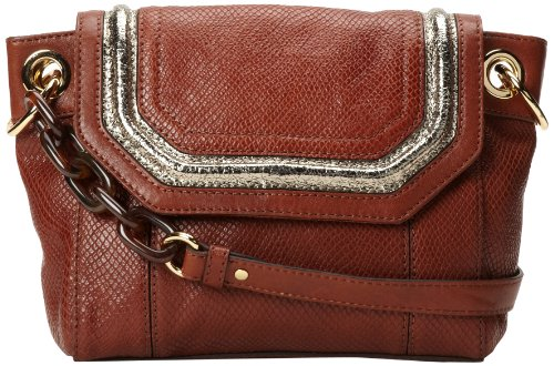 MILLY Zoey Snake 47ZS6357 Shoulder Bag,Whiskey,One Size