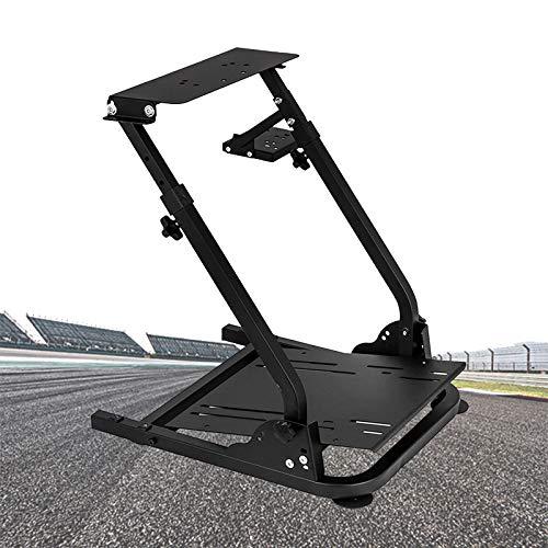 ZhiLianZhao Soporte De Volante De Carrera Soporte del Volante con Altura Ajustable Sin Pedal De Cambio De Rueda