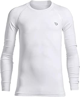 Youth Boys' Compression Thermal Shirt Fleece Base Layer Long Sleeve Crew Neck Top