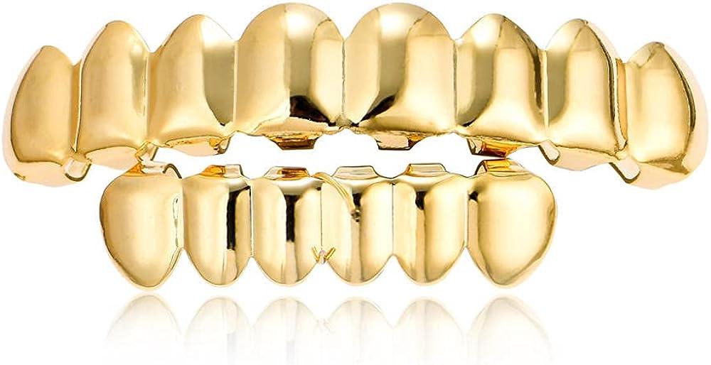 Hip Hop Teeth Hip-hop braces gold-plated 8 braces gold braces props