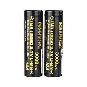 Bateria 18650 Recargable 3.7V 18650 Batería De Litio De Potencia 3000Mah40A Descarga, Cigarrillo Electrónico De Mano Batería Recargable En La Nube 2Pcs