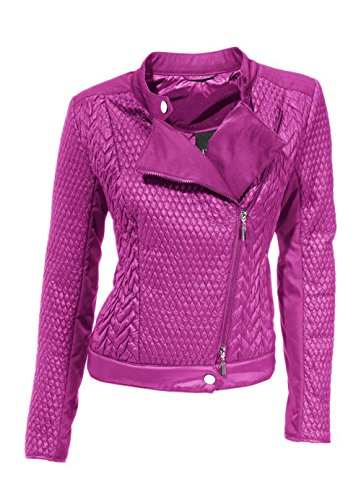 Heine - Best Connections Damen-Jacke Bikerstyle-Steppjacke Pink Größe 44