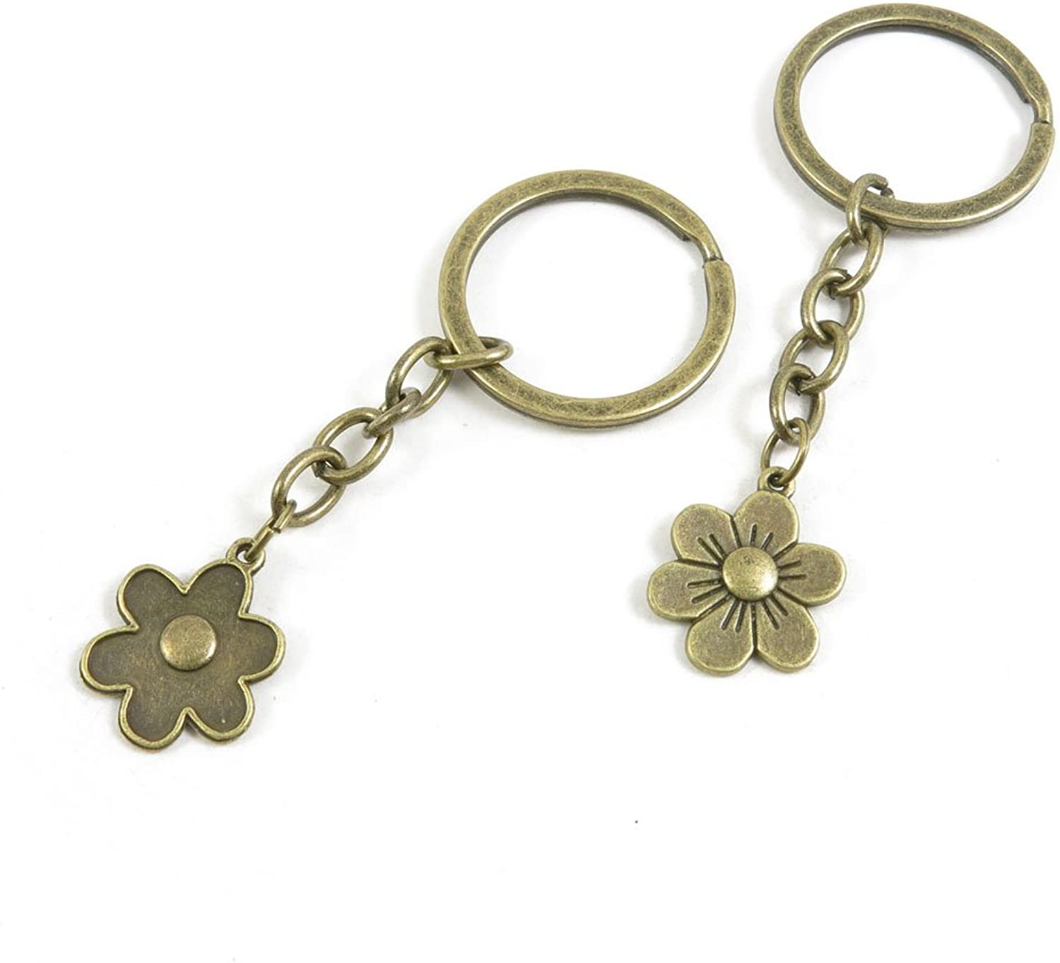 210 Pieces Fashion Jewelry Keyring Keychain Door Car Key Tag Ring Chain Supplier Supply Wholesale Bulk Lots Q2VU6 Cherry Blossoms