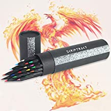 scriptract Colored Pencils 24 Count Set, Oil Based Colored Pencils Artist Quality, Perfect for Adults Coloring and Kids Doodling Drawing Painting Sketching Writing, Pre-sharpened (24Colors)