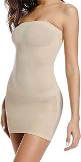 Strapless Tube Slip Dress Mini Bodycon Dresses for Women Seamless Tube Top Dress