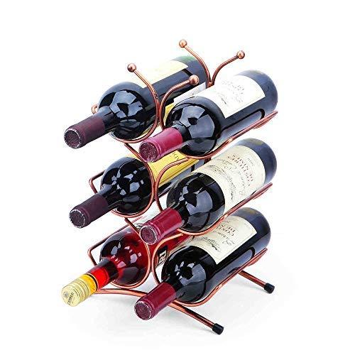 Zxx-Indoor Weinflaschenhalter, Küchentisch Weinlagerregal Weinlagerorganisator Präsentationsregal Freistehendes Weinregal für 6 Flaschen...
