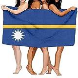 Extra groß Hamamtuch Damen,Microfaser Badetuch,Ultraleicht Handtücher,Flagge von Nauru,für Bad Strand Spa