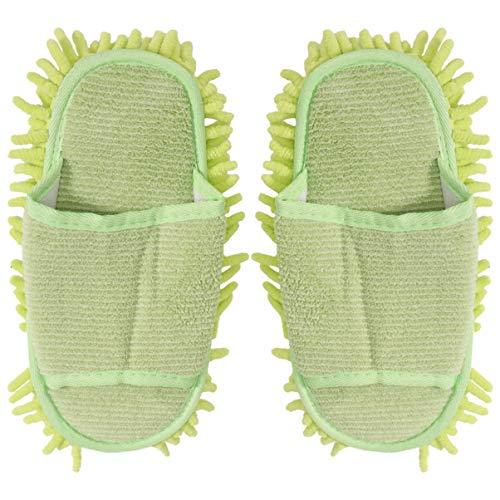 Pantuflas para limpieza de suelos, zapatillas de microfibra Mop, zapatillas para limpiar suelos, mopas lavables, reutilizables, para baño, oficina, cocina, casa, pulido