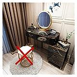 WSZMD 100 Cm Luz Lujo Dormitorio Moderno Simple Casa Pequeña Mesa Maquillaje Nórdico Mesa Almacenamiento Integración, Tocador (Color : Table Cabinet Mirror)