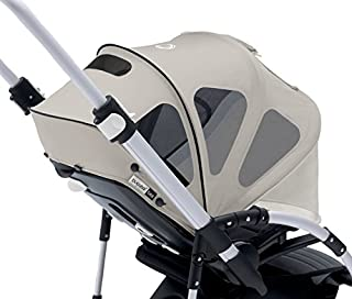 Bugaboo Bee Breezy Sun Canopy, Arctic Grey - Extendable Sun Canopy with UPF Sun Protection and Mesh Ventilation Panels