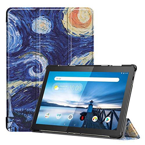 3-Vouw sleepcover hoes - Lenovo Tab M10 FHD Plus - Van Gogh Schilderij
