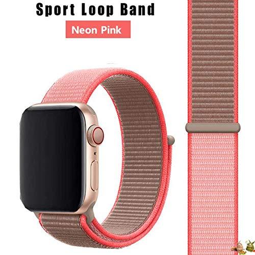 Stoffe-Monster X_Loop - Pulsera deportiva, color rosa neón, 42 mm/44 mm