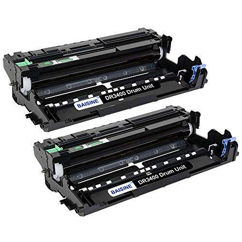 BAISINE 2-Pack Trommel Kompatibel für HL-L5100dn DR-3400 DR3400 Drum für HL-L5100DNTT DCP-L5500dn MFC-L6800dw DCP-L6600DW HL-L5000D HL-L5200DW HL-L6250DN HL-L6300DW HL-L6400DW (Nicht Toner)