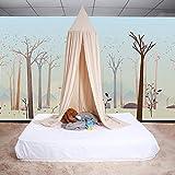 Little Princess Prince Multicolor Super Sweet Bed Canopy Mosquitera para niños Cama de bebé Round Dome Castle Play Carpa Casa Colgante Decoración de la casa Rincón de Lectura Algodón Medianoche[4#]