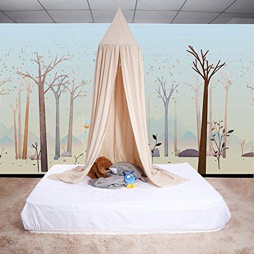 Ropa De Cama De Bebé Cúpula Redonda Cama Colgante Canopy Kids Play Tent Cortina De Mosquitera Para Bebé Niños Lectura Reproducción Decoración De La Habitación ( Color : Khaki )