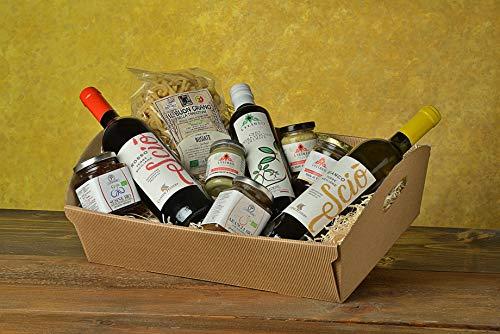 Cesto/Box regalo gastronomico 2021 e varie occasioni la Sicilia a Tavola, prodotti selezionati della nostra azienda e terra