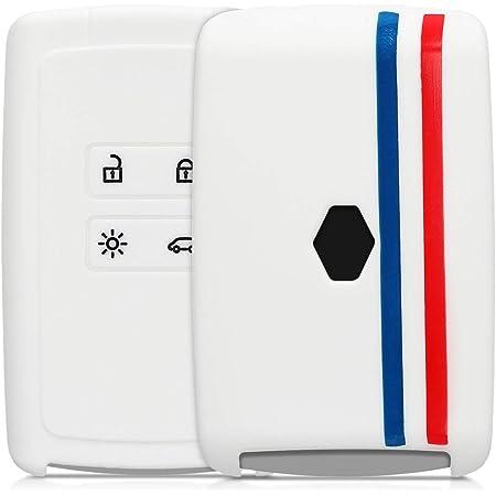 Keyless Go Uniquement Coque de Protection en Plastique Rigide Bleu fonc/é kwmobile Accessoire Cl/é de Voiture Compatible avec Renault Smart Key 4-Bouton
