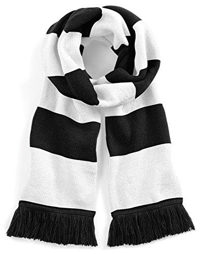 Beechfield Varsity Schal Gr. Einheitsgröße, schwarz/weiß