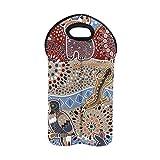 Monedero para vino Colorido Sin costuras Animales australianos Decorativos...
