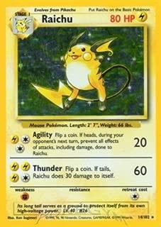 Pokemon - Raichu (14/102) - Base Set - Holo