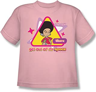 Star Trek Quogs/Out of My Space Big Boys T-Shirt in Pink