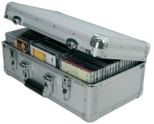 Porta CD in alluminio Grigio 60 CDs   FLIGHT CASE