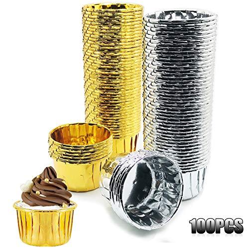 Papel de Aluminio para Cupcakes (100 Pz)