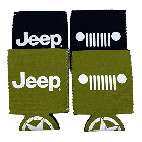 Jeep Logo Coozie Can Wraps Licensed and Authentic 4-pack