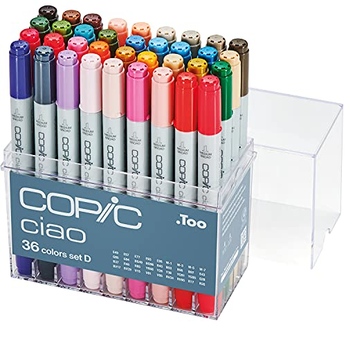 Copic Marker Ciao Markers Set D, 36-Piece