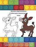 Animales impresionantes Libros para colorear para niños - E