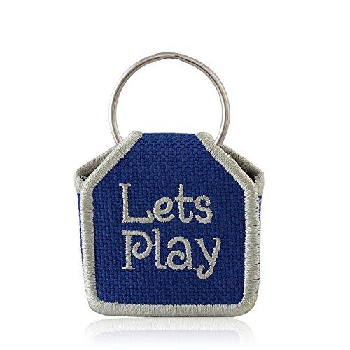 The Tag Bag - Dog Tag Silencer (Lets Play/Blue)