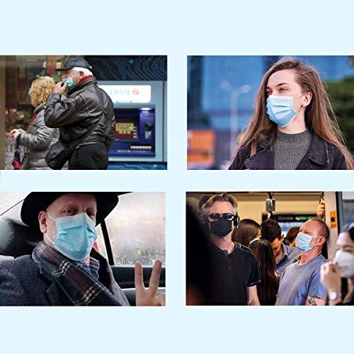 50 St. OP Masken Typ IIR (CE) Medizinische Mundschutz Einwegmaske 3-lagig Atemschutzmaske TÜV geprüft EN 14683:2019 BEF ≥ 99.4% - 5